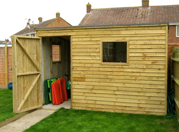 Denchworth ponds garden sheds oxford for How to build a sloped roof shed
